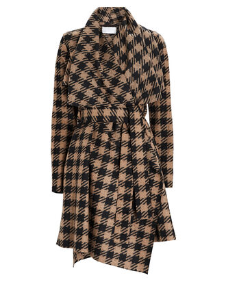 Checked Wool Blanket Coat, BEIGE/BLACK, hi-res