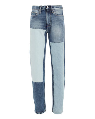 High-Rise Straight Leg Jeans, BLUE DENIM, hi-res
