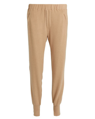 Peached Jersey Joggers, BEIGE, hi-res