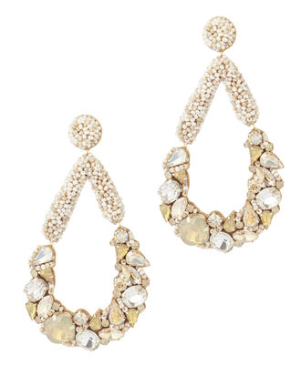 Sasha Teardrop Earrings, WHITE, hi-res