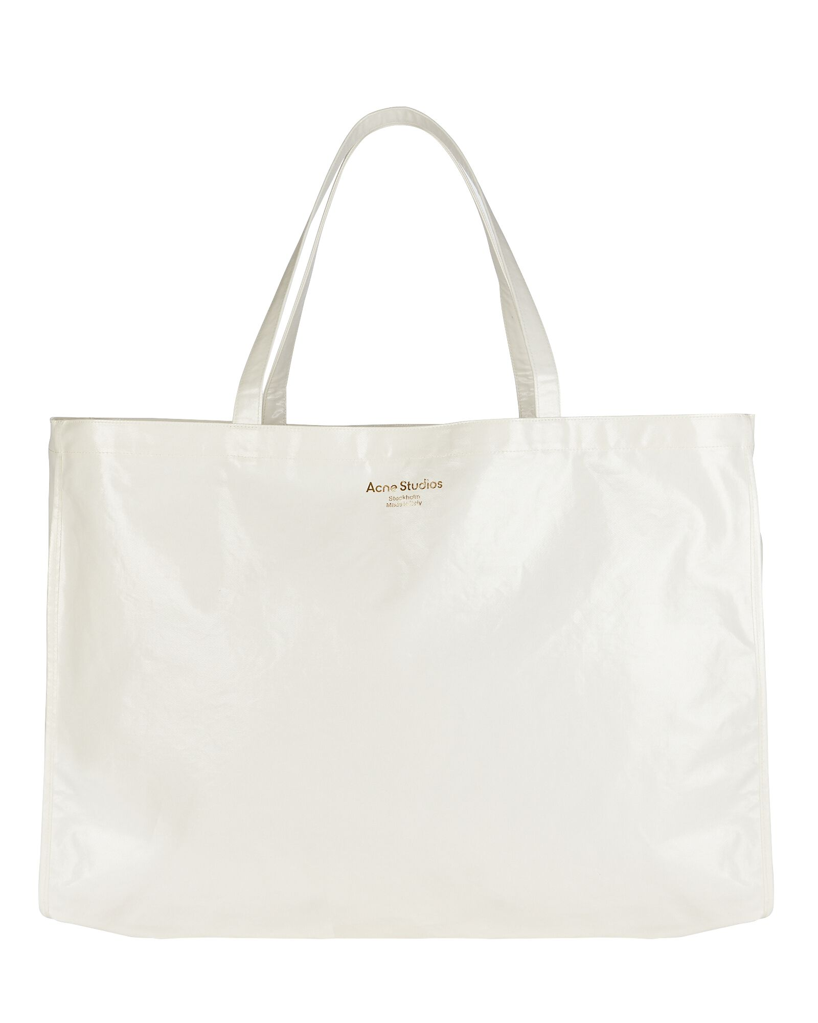 Oilcloth Coated Tote Bag, WHITE, hi-res