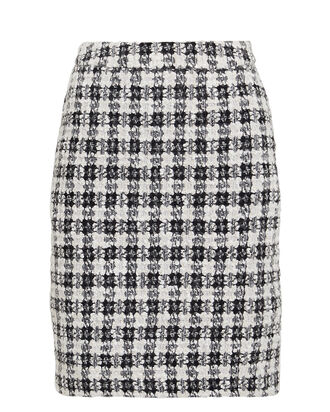 OpheliaGZ Bouclé Tweed Mini Skirt, BLACK/WHITE, hi-res