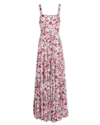 Zofia Sleeveless Floral Maxi Dress, WHITE/PINK, hi-res