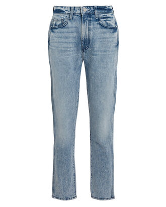 Vintage Cropped High-Rise Jeans, FADED BLUE DENIM, hi-res