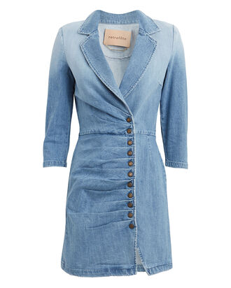 Willa Denim Mini Dress, DENIM, hi-res