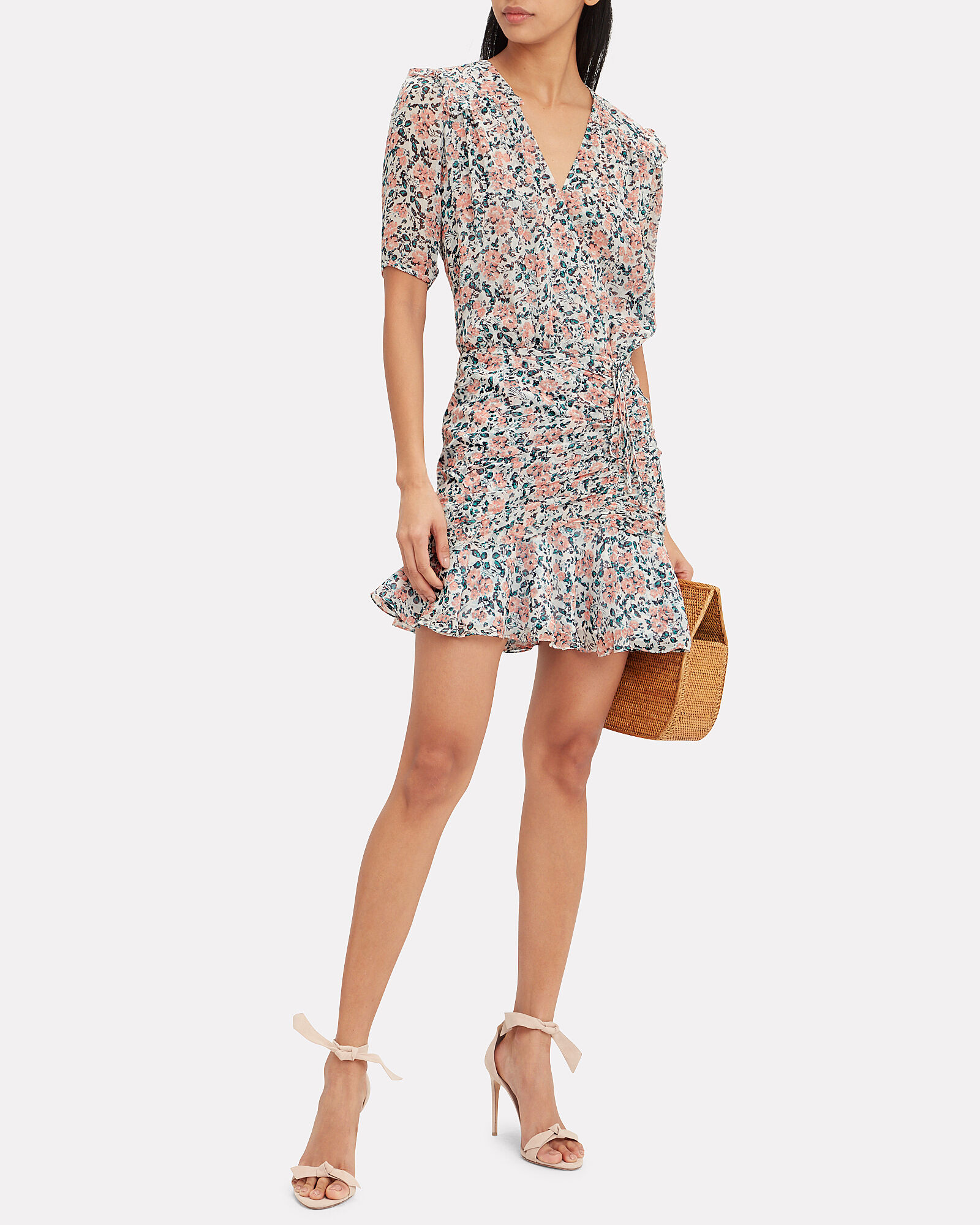 Dakota Chiffon Gardenia Mini Dress, MULTI, hi-res
