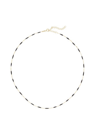 Enameled Chain Necklace, GOLD, hi-res