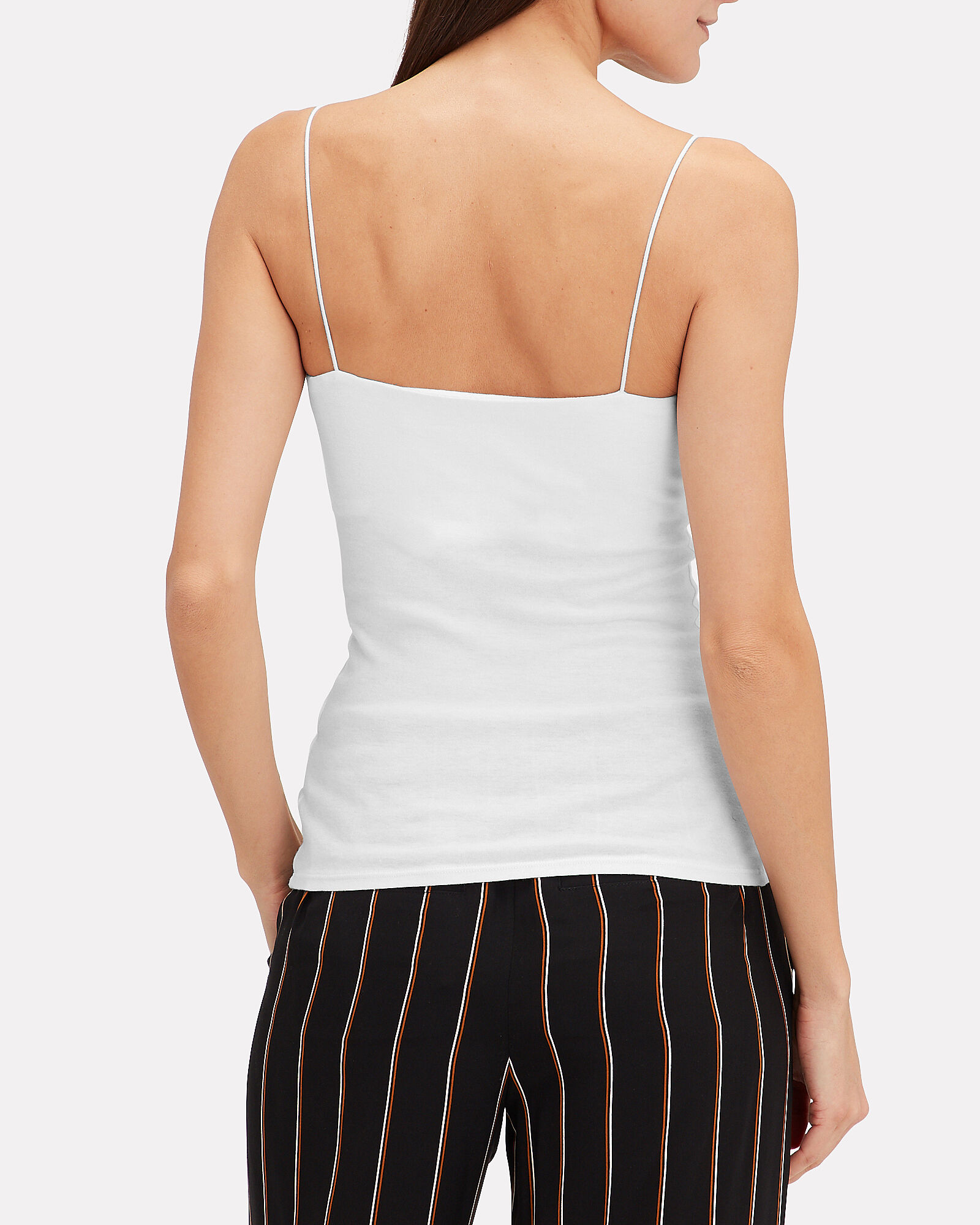 Essential Strappy White Tank, WHITE, hi-res