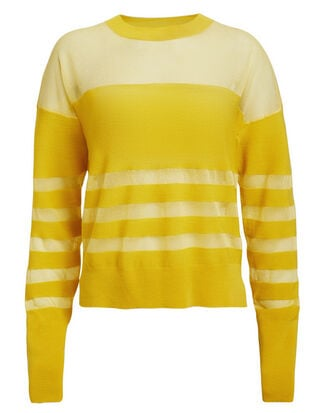 Tandi Diamond Sweater, YELLOW, hi-res