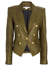 Cooke Leather Dickey Blazer, OLIVE, hi-res