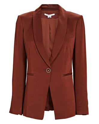Kollia Shawl Collar Blazer, ORANGE, hi-res