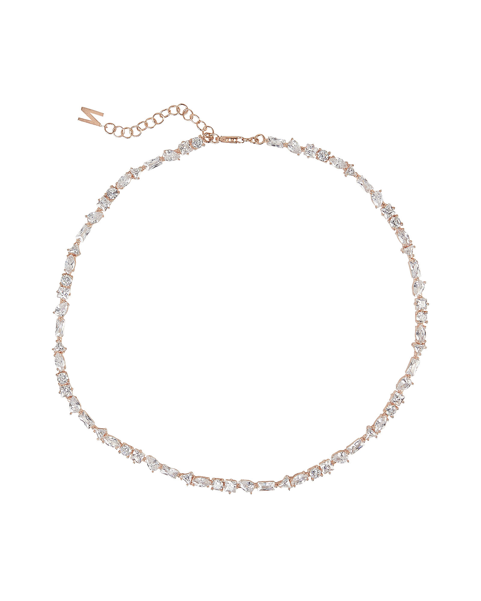 Julie Crystal Stone Necklace, CLEAR, hi-res