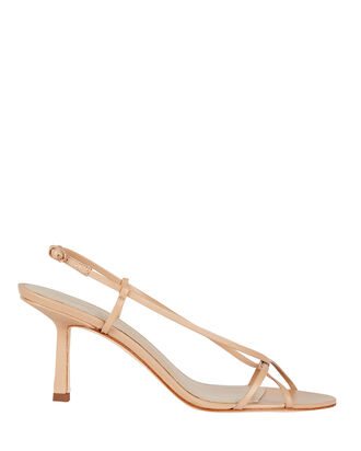 2.42 Leather Strappy Sandals, BEIGE, hi-res