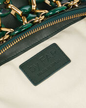 Capria Chain Leather Bag, GREEN, hi-res