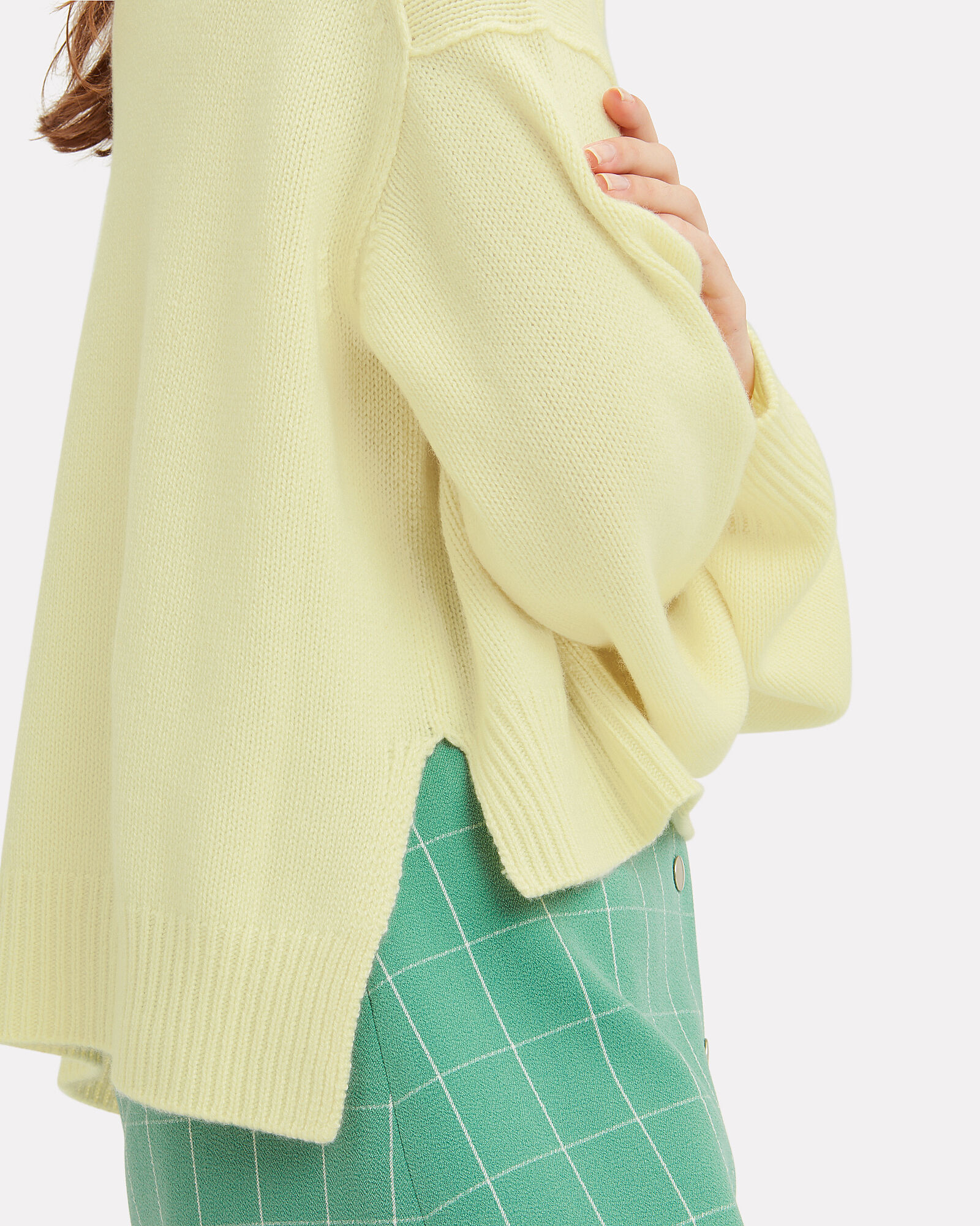 Lyn Turtleneck Cashmere Sweater, YELLOW, hi-res