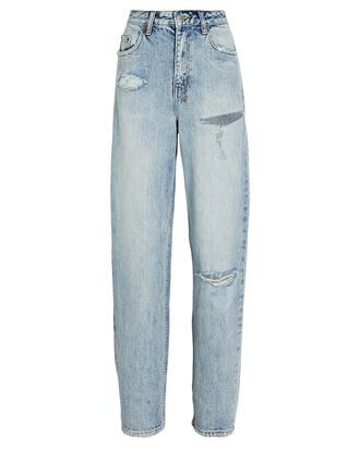 Playback Distressed Straight-Leg Jeans, SKREAM TRASHED, hi-res
