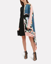 Asymmetric Printed Mini Dress, MULTI, hi-res