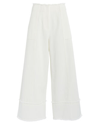 Francesca Wide-Leg Pants, WHITE, hi-res
