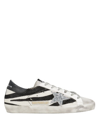 Superstar Zebra Haircalf Low-Top Sneakers, BLACK/WHITE, hi-res