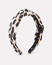 Leopard Knotted Headband, BROWN/LEOPARD, hi-res