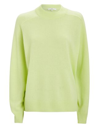 Featherweight Cashmere Crewneck Sweater, LIGHT GREEN, hi-res