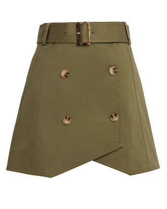 Army Trench Skirt, ARMY GREEN, hi-res