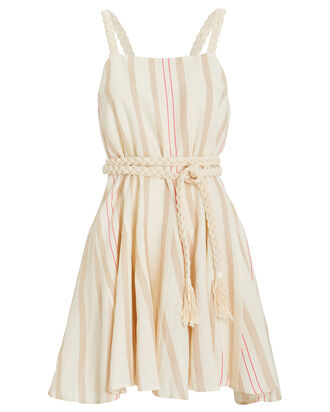 Dimma Linen Dress, BEIGE/STRIPES, hi-res