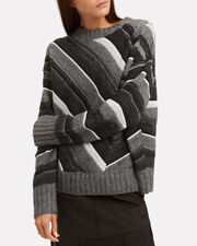 Striped Grey Sweater, GREY, hi-res