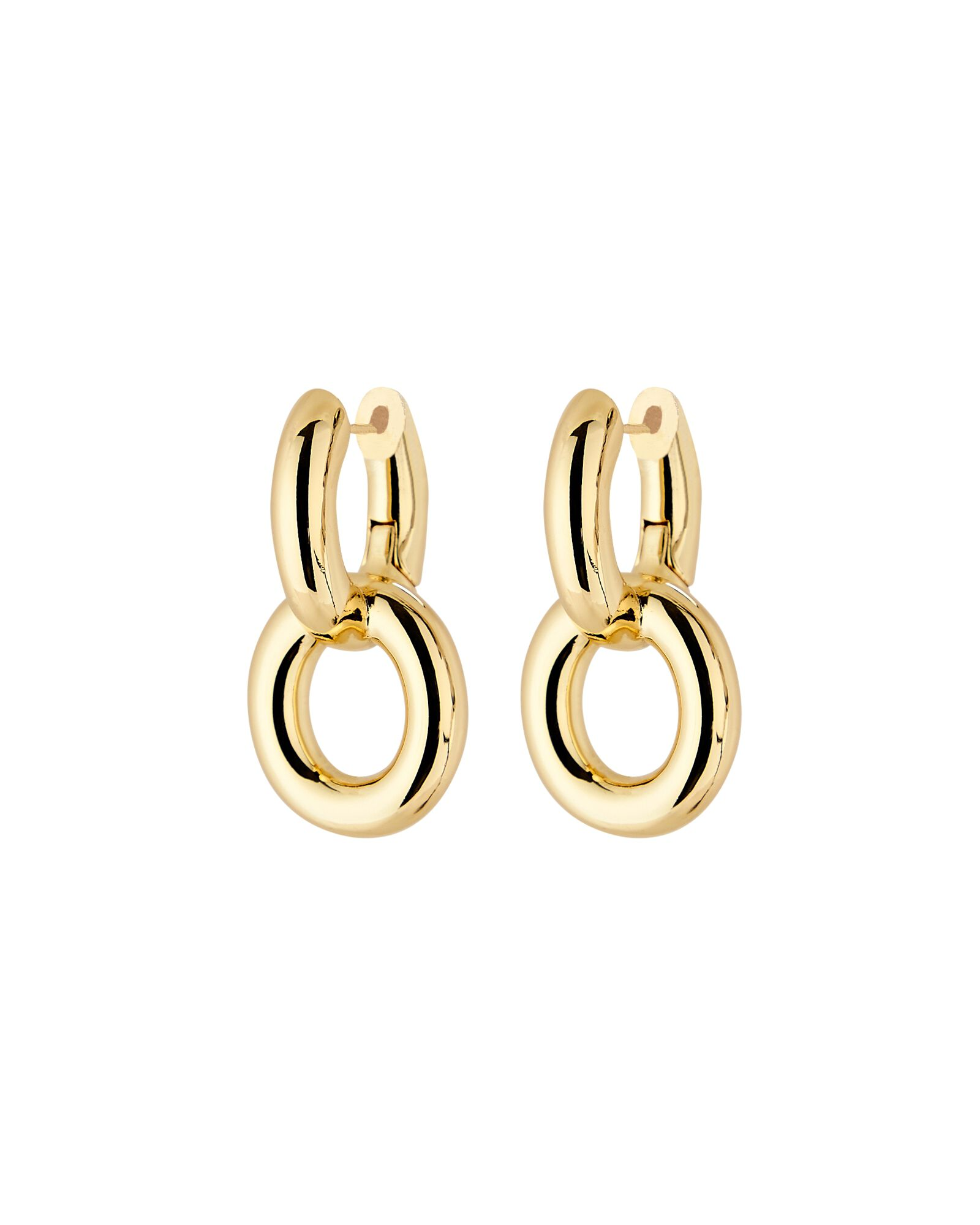 Axel Chain-Link Drop Earrings, GOLD, hi-res