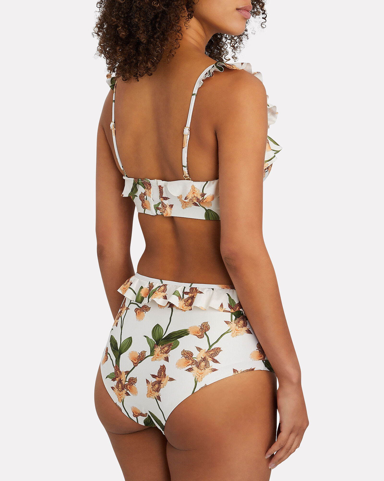 Alicia Printed Bikini Bottoms, WHITE/GREEN, hi-res