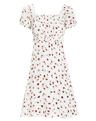 Lou Mini Dress, WHITE/FLORAL, hi-res