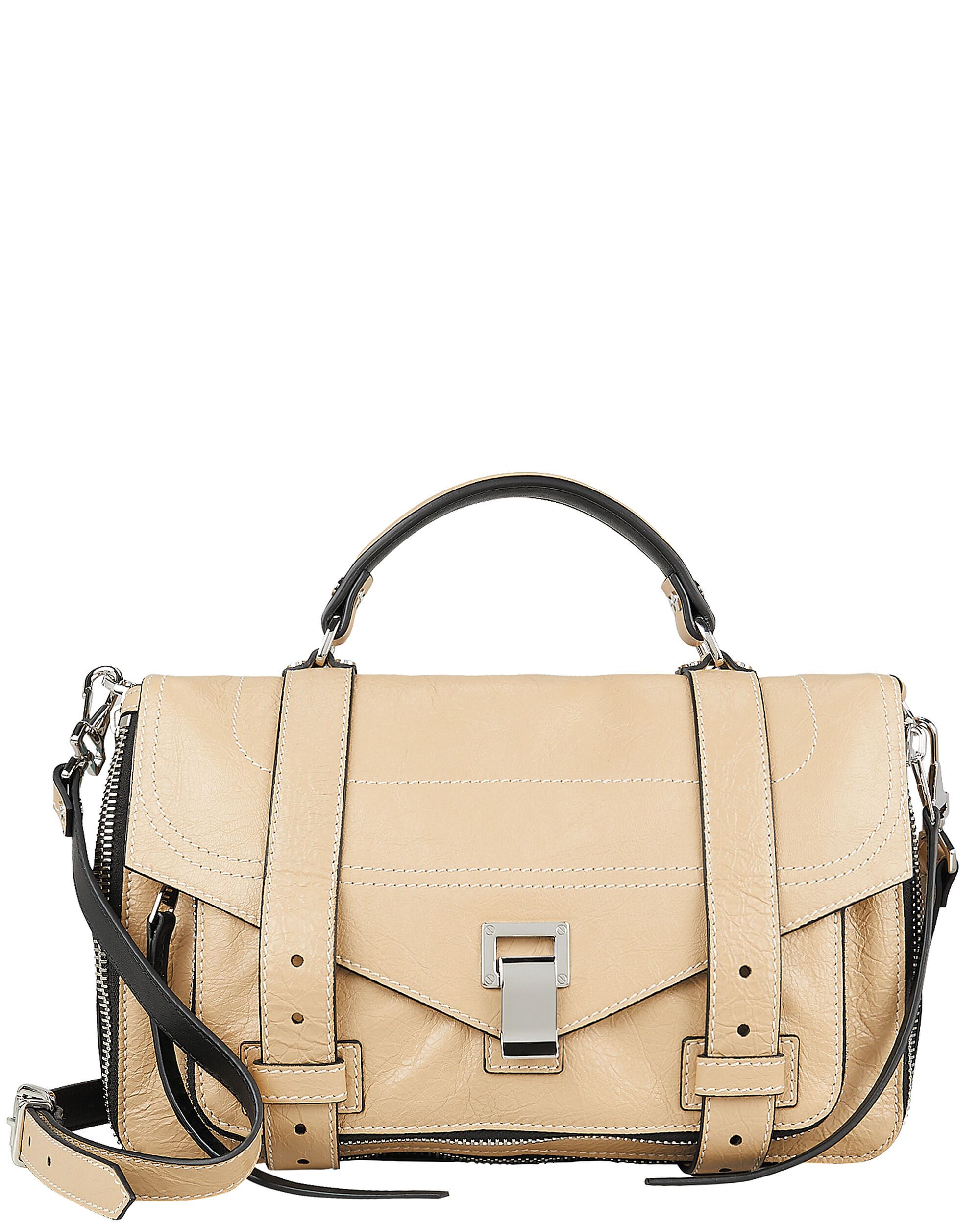 PS1 Medium Leather Messenger Bag, BEIGE, hi-res