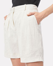 Relaxed Stripe Suiting Shorts, MULTI, hi-res