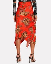 Quienna Cinched Floral Midi Skirt, RED/FLORAL, hi-res