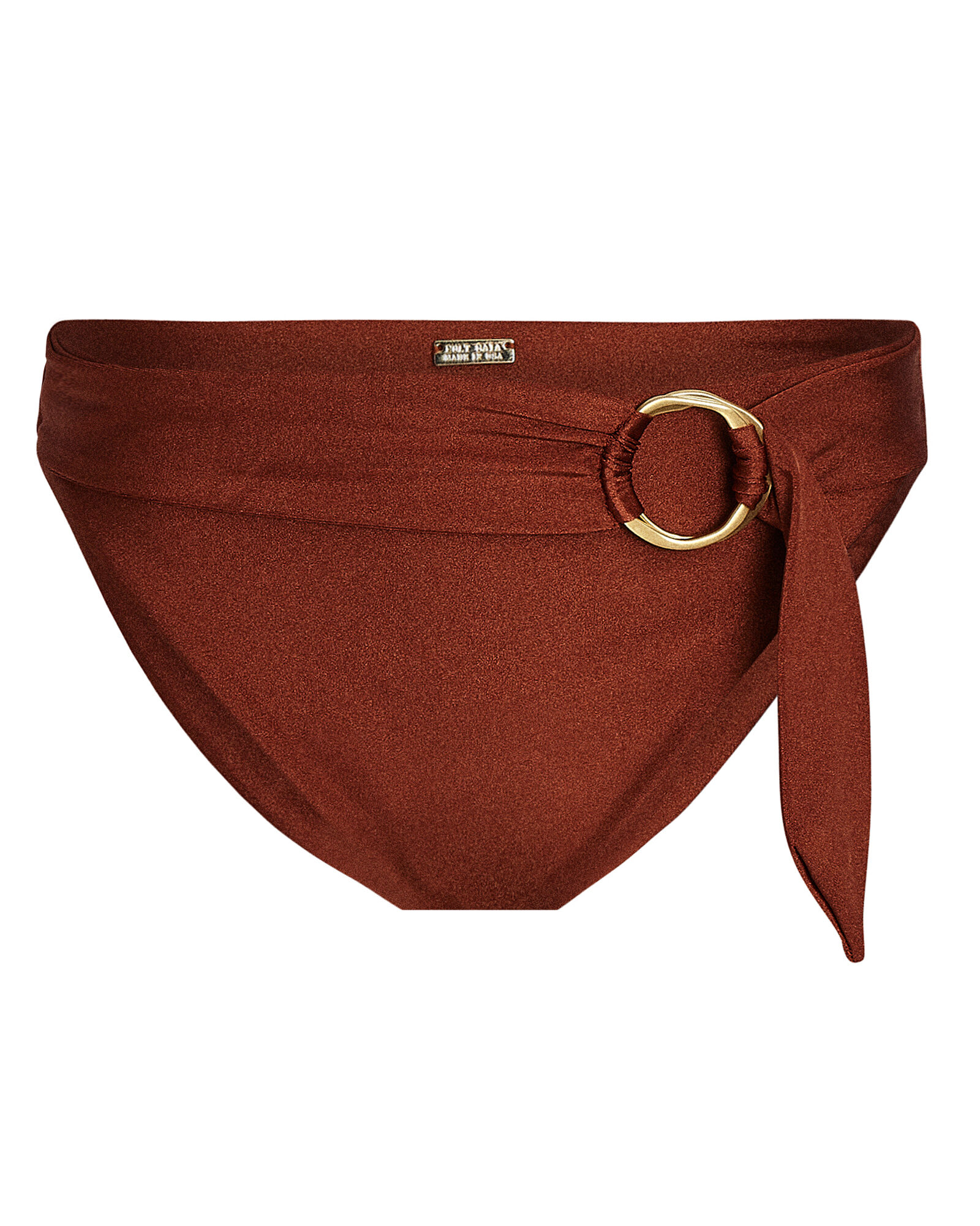 Lexi High-Waist Bikini Bottoms, BROWN, hi-res
