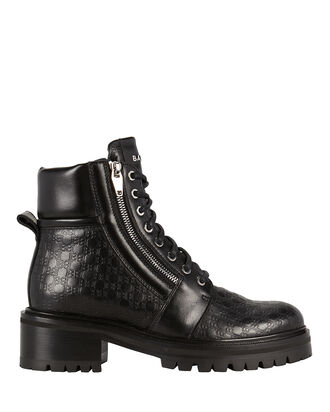 Army Ranger Embossed Logo Booties, BLACK, hi-res