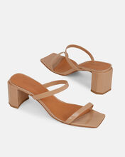 Tanya Patent Leather Sandals, BROWN, hi-res