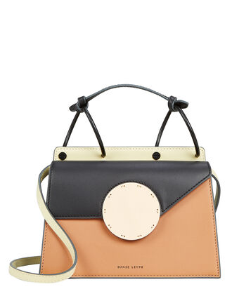 Mini Phoebe Black Crossbody Bag, BLACK/BEIGE/BLUE, hi-res