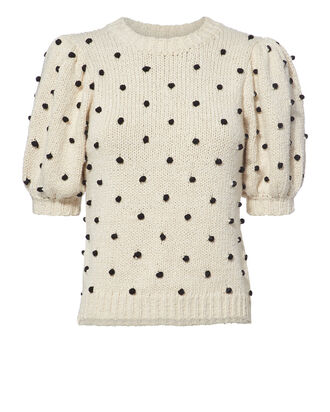 Bettine Polka Dot Embroidered Sweater, MULTI, hi-res