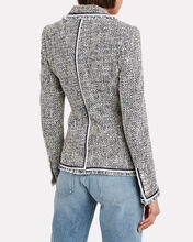 Theron Tweed Double Breasted Blazer, NAVY/WHITE, hi-res