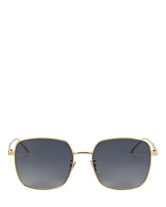 Wire Square Sunglasses, GOLD, hi-res
