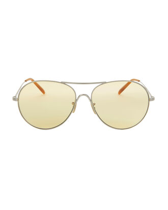 Rockmore Light Yellow Aviator Sunglasses, YELLOW, hi-res
