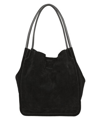 Soft Suede Tote, BLACK, hi-res