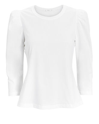 Karlie Puff Shoulder T-Shirt, WHITE, hi-res