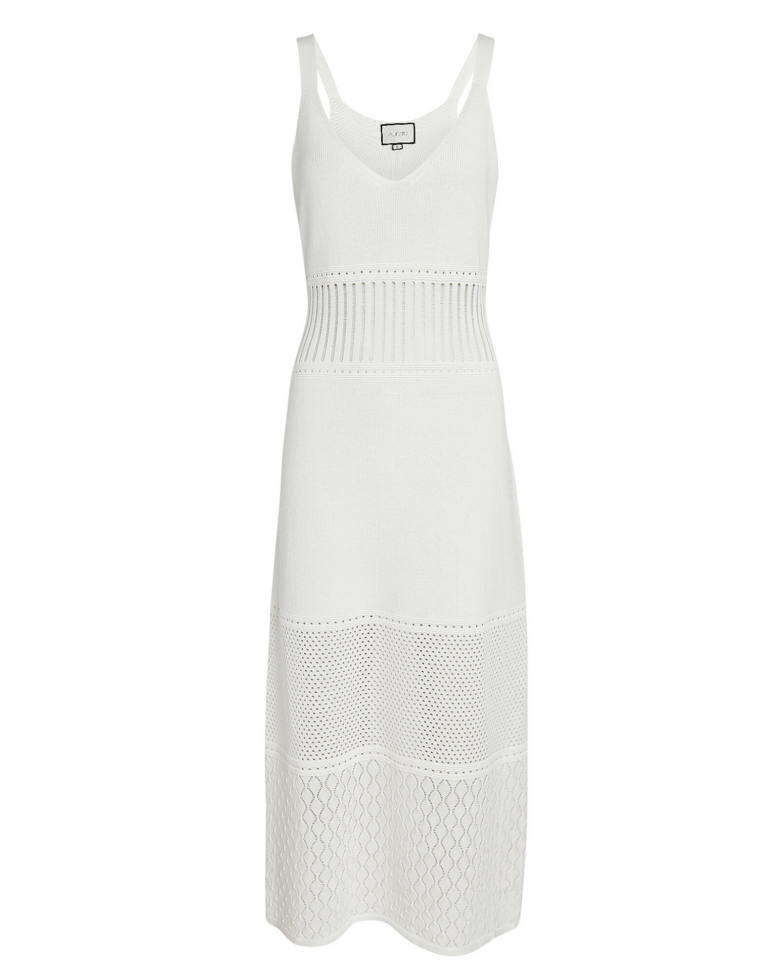 Rozanna Knit Midi Dress, WHITE, hi-res