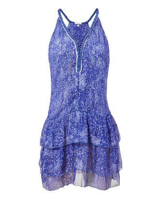 Betty Ruffle Mini Dress, BLUE-MED, hi-res