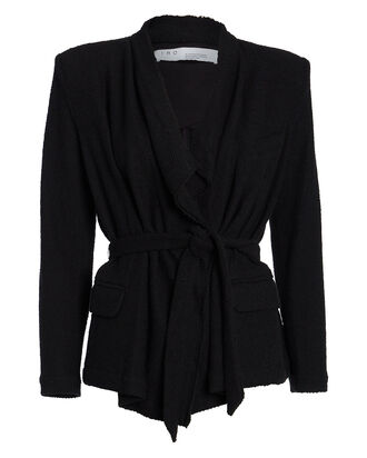 Summy Bouclé Wrap Jacket, BLACK, hi-res