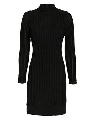 Edita Mock Neck Dress, BLACK, hi-res