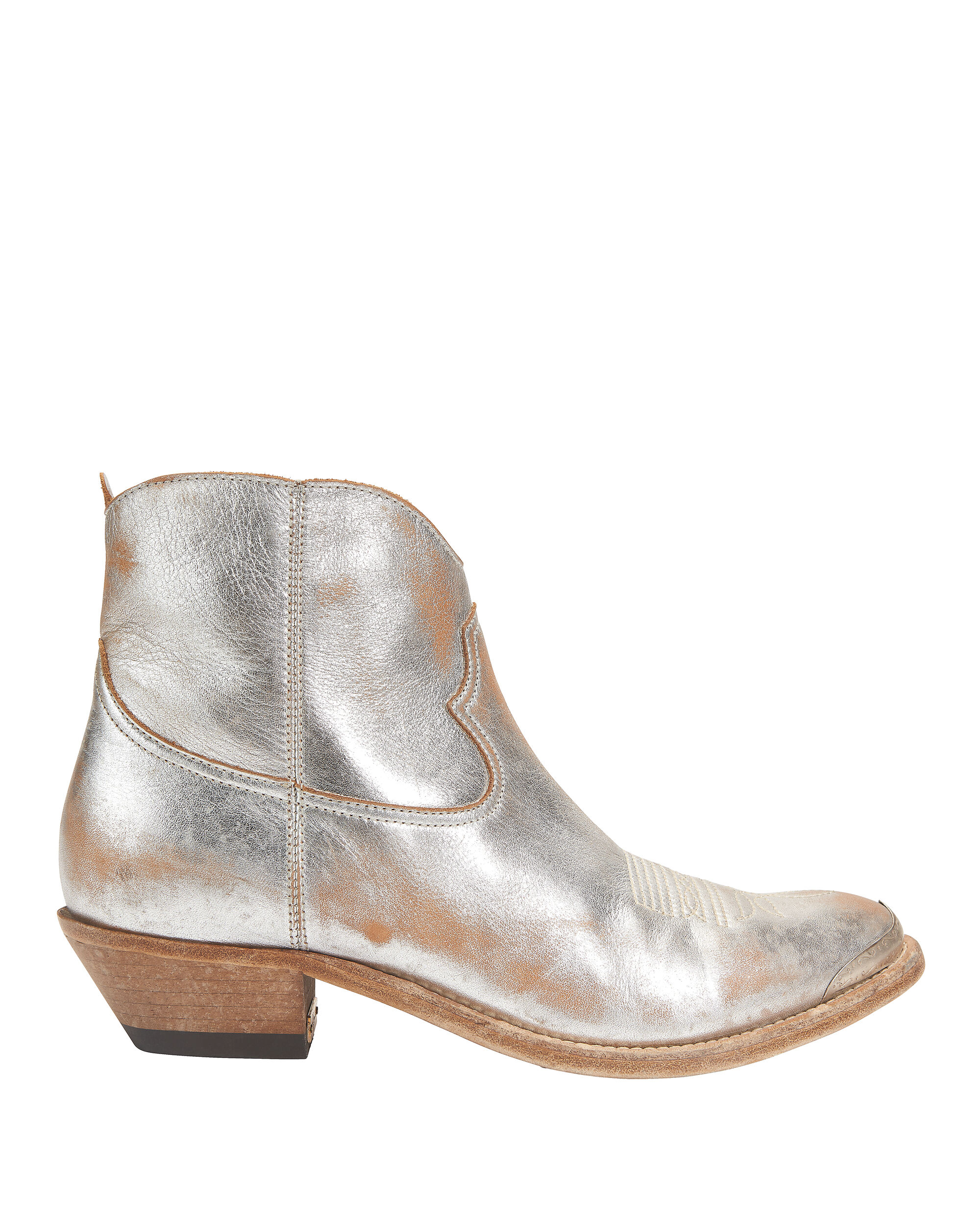 YOUNG COWBOY METAL TIP BOOTS SILVER
