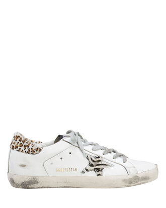 Superstar Zebra Star Low-Top Sneakers, WHITE, hi-res